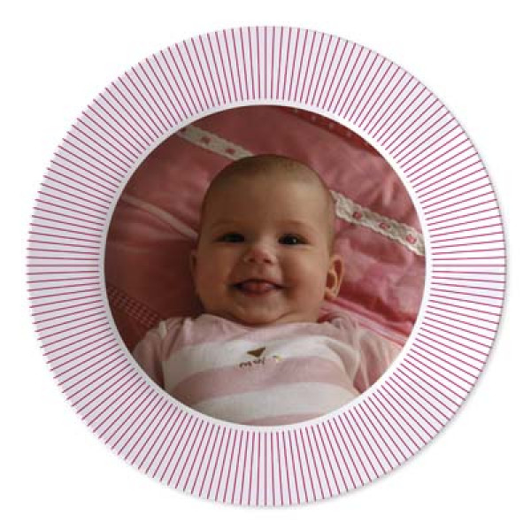 geboorte bordje met foto van baby - plate baby birth with photo
