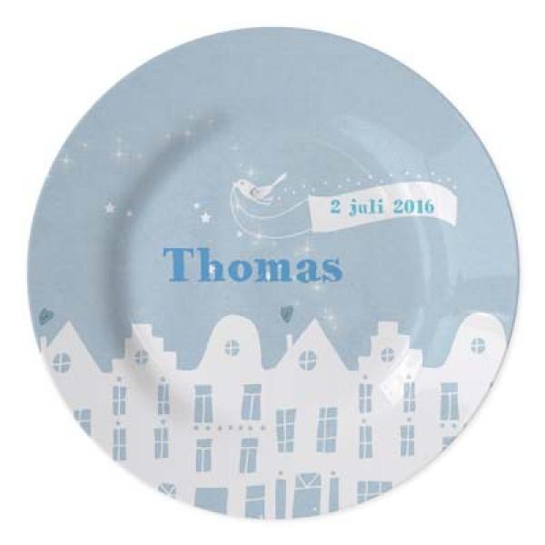 geboortebordje met naam jongen - baby plate with name for boy