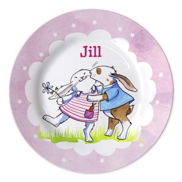 geboortebordje met naam meisje - personalised baby plate for girl