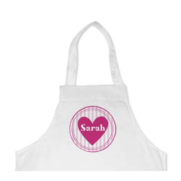 leuk kinderschort voor meisje- apron with heart for girl