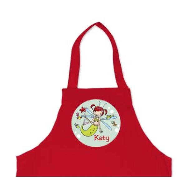 leuk kinderschort met naam en zeeelf - cool apron with murmaid and name of the kid