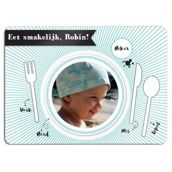 placemat met foto - placemat with photo