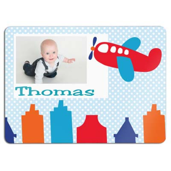 leuke placemat met foto en naam van het kind- placemat with photo and name of the kid