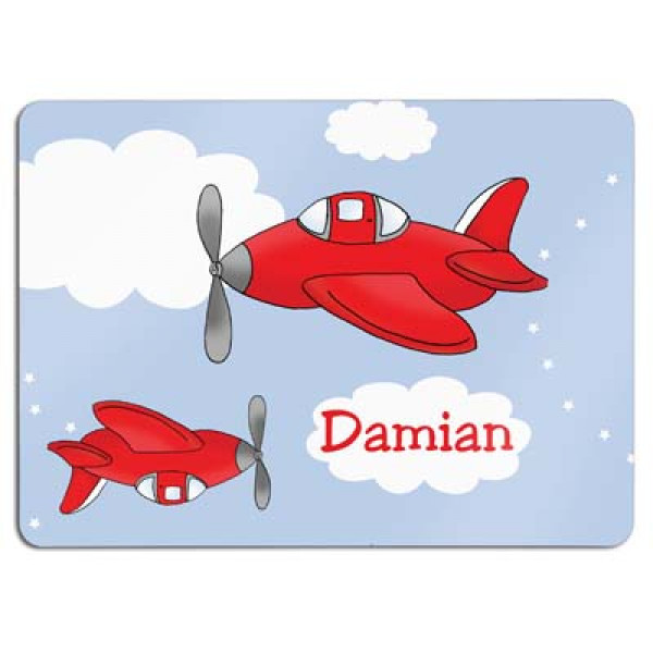 leuke placemat met vliegtuigjes en de naam van het kind - fun placemat with two plains and the name of the child